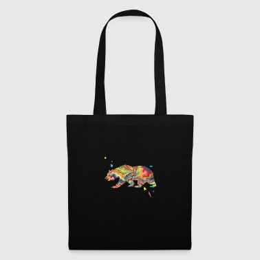 Color Splash Grizzly - Tote Bag