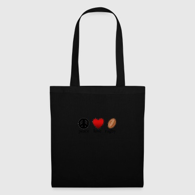 Peace Love Rugby - Tote Bag