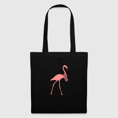 Flamingo avec foulard - Tote Bag