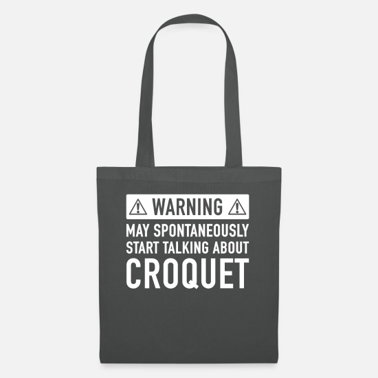 Croquet Bags & Backpacks - Funny Croquet Gift Idea - Tote Bag graphite grey