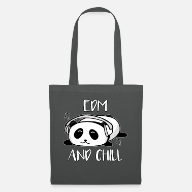 Isopanda EDM ja Chill Panda Music Animal Bear lahja - Kangaskassi