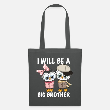 Hockey I'm going to be a big brother penguin - Tote Bag