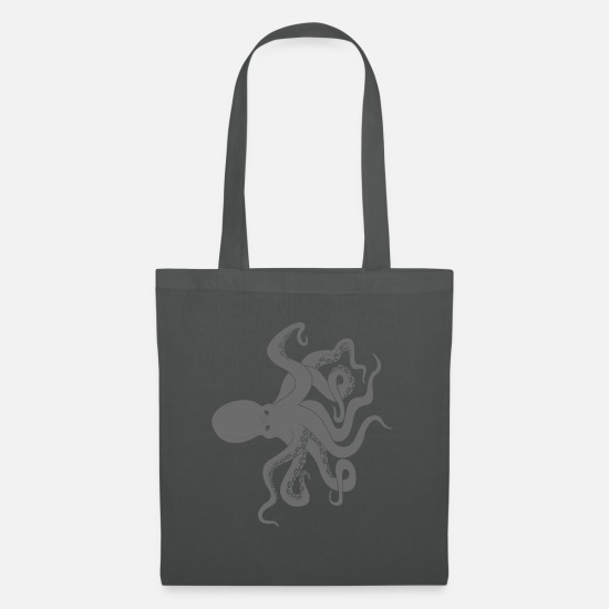 Octopus Bags & Backpacks - Octopus octopus octopus - Tote Bag graphite grey