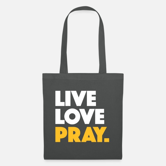 Love Bags & Backpacks - Live Love Pray Islam - Tote Bag graphite grey