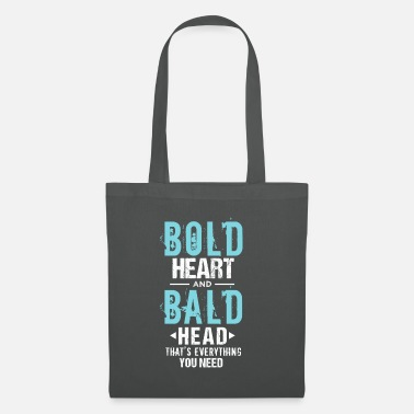 Bald Head ME110Bold Heart and a Bald head NO HAIR T-Shirt - Tote Bag