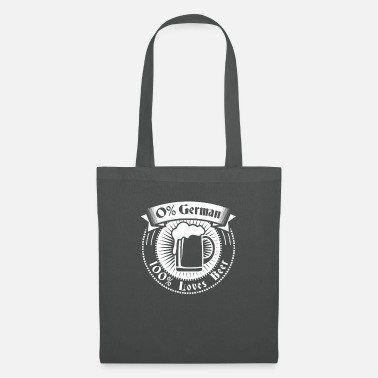 Munich 0% German 100% Loves Beer Tee Funny Oktoberfest - Tote Bag