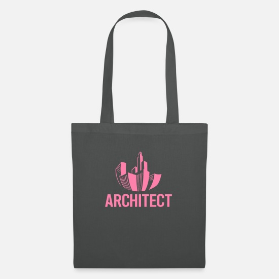 Gift Idea Bags & Backpacks - Office Architect Architecture Architect Architect - Tote Bag graphite grey