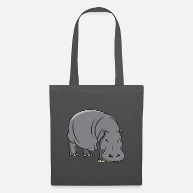 Horse Sayings Hippo Hippopotamus Hippo Safari Funny Sweet - Tote Bag