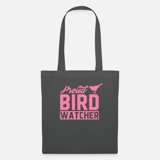 Gift Idea Bags & Backpacks - Bird watching ornithologist ornithology bird - Tote Bag graphite grey