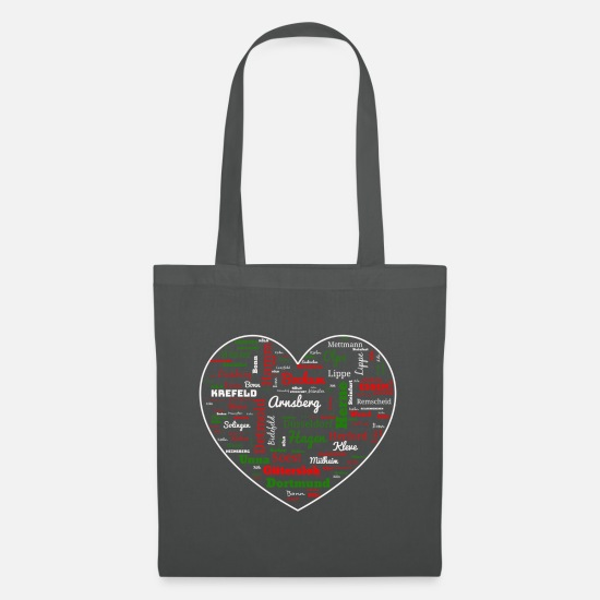 Bochum Bags & Backpacks - North Rhine Westphalia heart gift - Tote Bag graphite grey