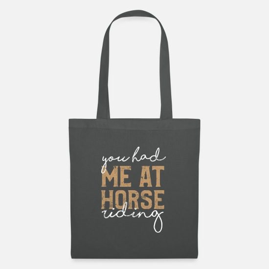 Equitation Bags & Backpacks - Horses are riding - Tote Bag graphite grey