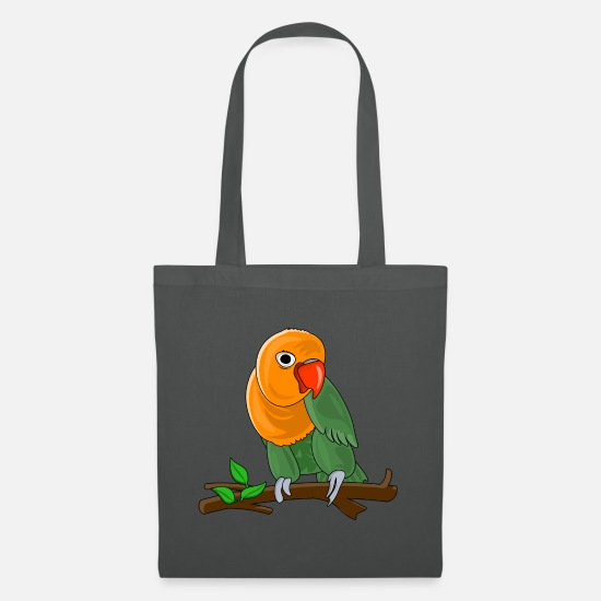Enviromental Bags & Backpacks - Bird dwarf parrot - Tote Bag graphite grey