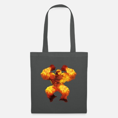 Silver Back Gorilla fire - Tote Bag