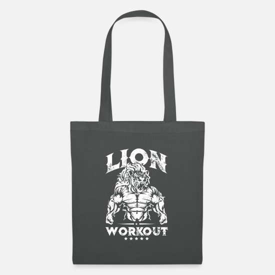 Gym Bags & Backpacks - Lion Beast Workout - Tote Bag graphite grey