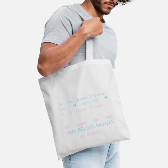 Spreadshirt Merci Cr/èche Pu/éricultrice Tote Bag