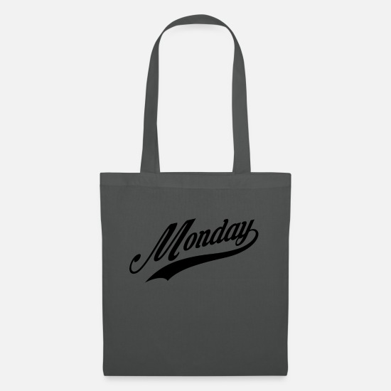 Date Bags & Backpacks - Monday Monday lettering - Tote Bag graphite grey