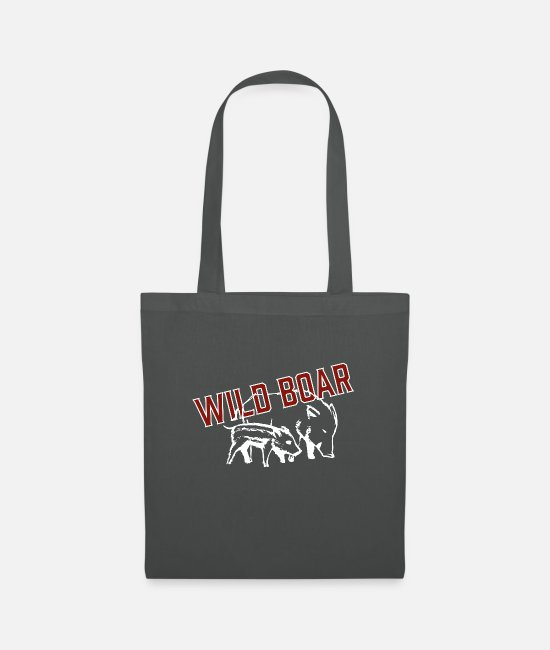 Hog Bags & Backpacks - WILD BOAR - Tote Bag graphite grey