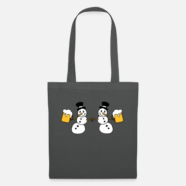 Couples snowman 2 friends team couple crew beer alcohol t - Tote Bag