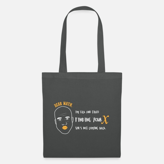 Math Bags & Backpacks - Math teacher - Tote Bag graphite grey