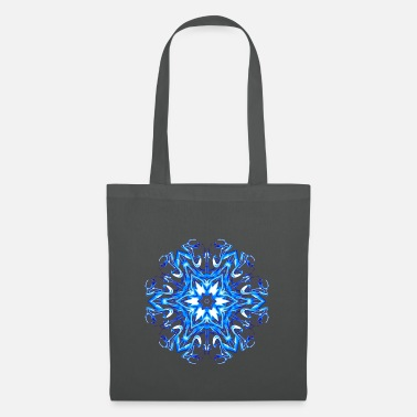 Hexagon Blue Electric Star - Tote Bag