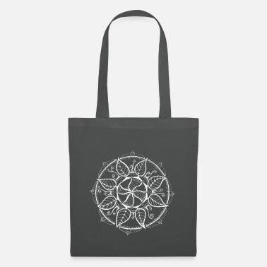 Trance Mandala in white, intuitive and hand painted - Tote Bag