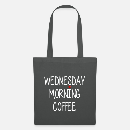 Alarm Clock Bags & Backpacks - Wednesday Morning Coffee - Wednesday Morning Coffee - Tote Bag graphite grey
