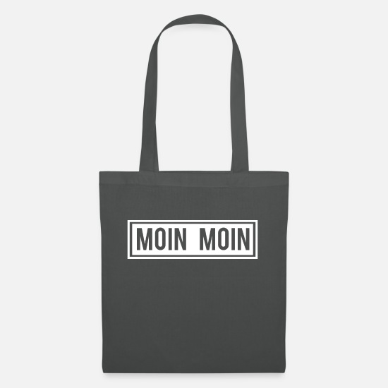 Birthday Bags & Backpacks - Moin Ahoy Friese Nordfriese Ostfriese coast sea - Tote Bag graphite grey