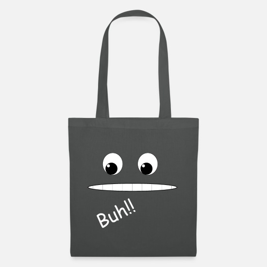Grin Bags & Backpacks - Grinning face grin Buh - Tote Bag graphite grey