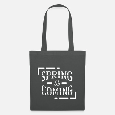 Bloom Spring spring gift idea saying March April - Tote Bag