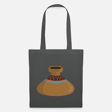 Ritual Vase sack magic lamp clay pottery Native American ethno - Tote Bag