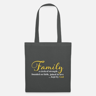 Protest Family Strength Faith Love Saying - Tote Bag