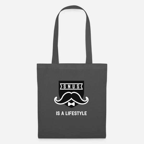 Gift Idea Bags & Backpacks - SNUS is a lifestyle Present Tobacco - Tote Bag graphite grey