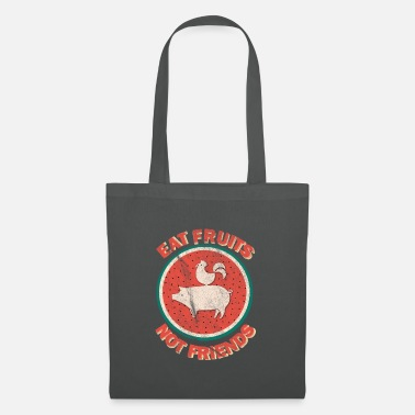 The Future Is Female Eat Fruits Not Friends Pig Chicken Vegan Vegan - Tote Bag
