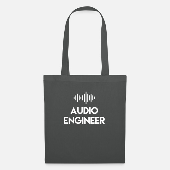 Audio Engineer Art Bags & Backpacks - Audio Engineer - Audio Engineer - Tote Bag graphite grey