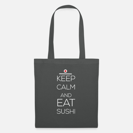 Sushi Tee Bags & Backpacks - Sushi - Keep calm and eat sushi - Tote Bag graphite grey