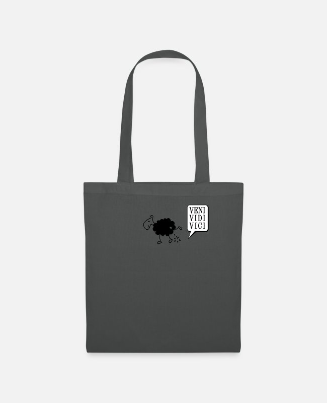 Pee Bags & Backpacks - Schwarzes Schaf Pisser / Sheep in wolf's clothing - Tote Bag graphite grey