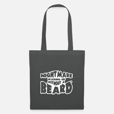 Husband Nightmare waking up without a beard - Tote Bag