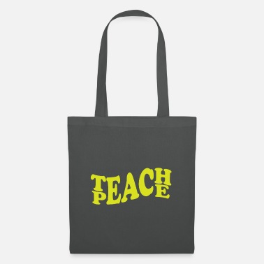 Party Teach peace Geschenk - Stoffbeutel
