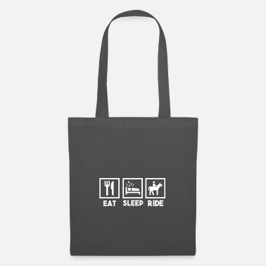 Saddle Eat Spleep Ride, Eating Sleep Riding. - Tote Bag