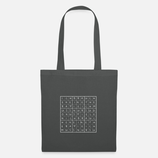 Play Bags & Backpacks - No therapy only sudoku play gift - Tote Bag graphite grey
