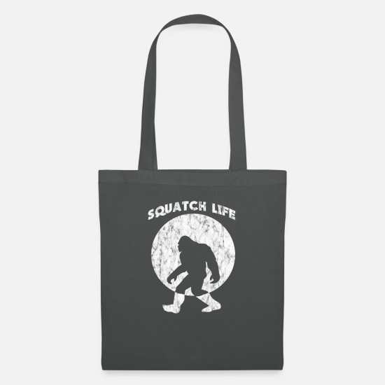 Squatch Bags & Backpacks - Squatch Life Bigfoot Sasquatch Yeti - Tote Bag graphite grey