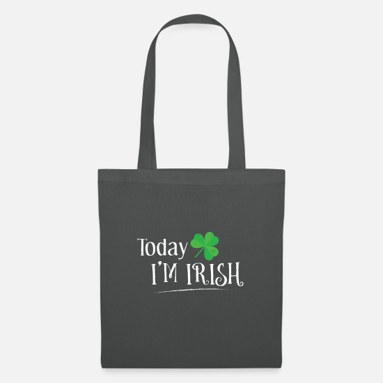 Irish Bags & Backpacks - Today Im Irish - Tote Bag graphite grey