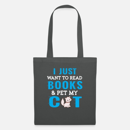 Gift Idea Bags & Backpacks - Cat cat shirt - Tote Bag graphite grey