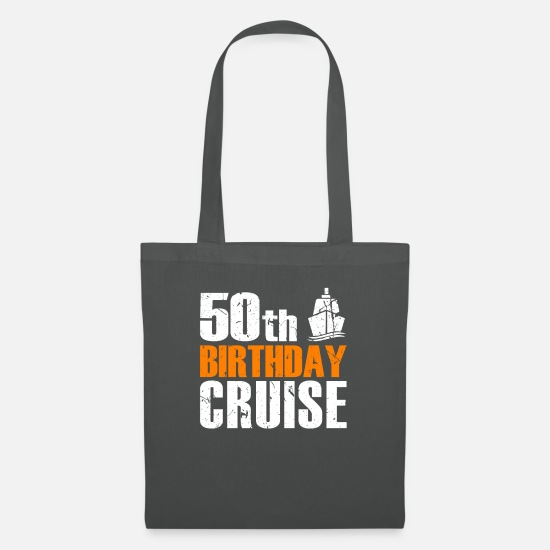 Birthday Bags & Backpacks - 50th Birthday Cruise - Tote Bag graphite grey