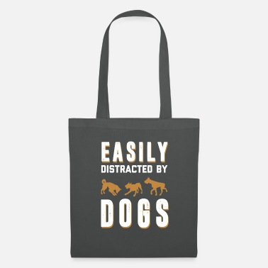 Dog - dog - distracted by dogs - shirt - Tote Bag