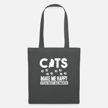 Cats - cats make me happy - shirt - Tote Bag