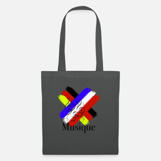 Birthday Bags & Backpacks - Germany France flag clef - Tote Bag graphite grey