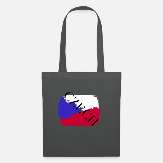 Gift Idea Bags & Backpacks - Czech Republic flag Czech - Tote Bag graphite grey