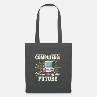 Lunstig Computers - The wafe of the future - Tote Bag