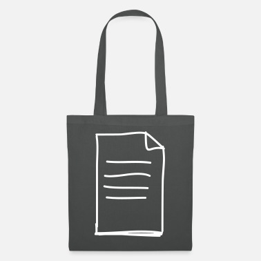 Documentation Described document with dog ear - Tote Bag
